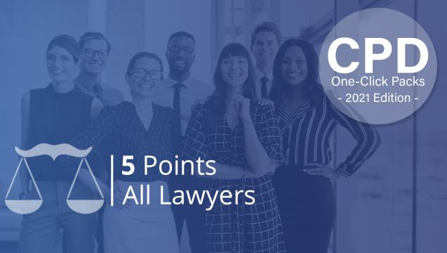 LawCPD One-Click Pack - All Lawyers 2021 - 5 Points