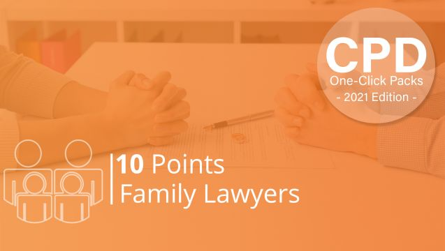 One-Click CPD Compliance for Family Lawyers (10 Points)