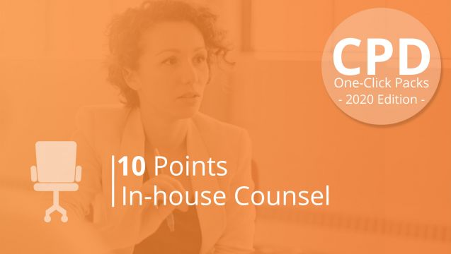 One-Click CPD Compliance for In-House Counsel (10 Points)