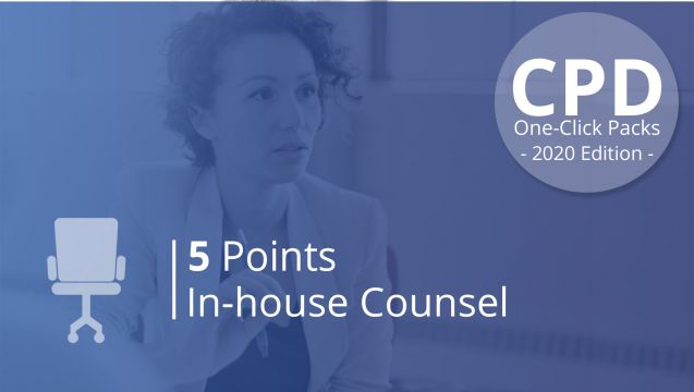One-Click CPD Compliance for In-House Counsel (5 Pts)