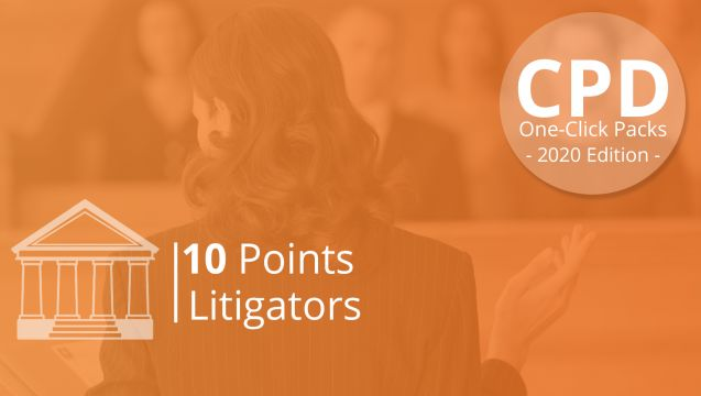 One-Click CPD Compliance for Litigators (10 Points)