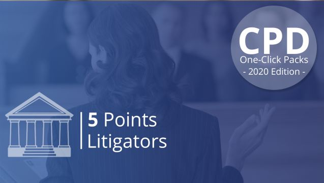 One-Click CPD Compliance for Litigators (5 Points)