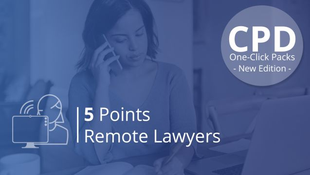 One-Click CPD Compliance for Remote Lawyers (5 Points)