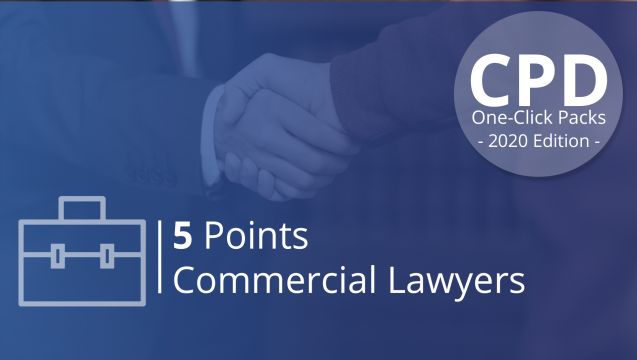 One-Click CPD Compliance for Commercial Lawyers (5 Pts)