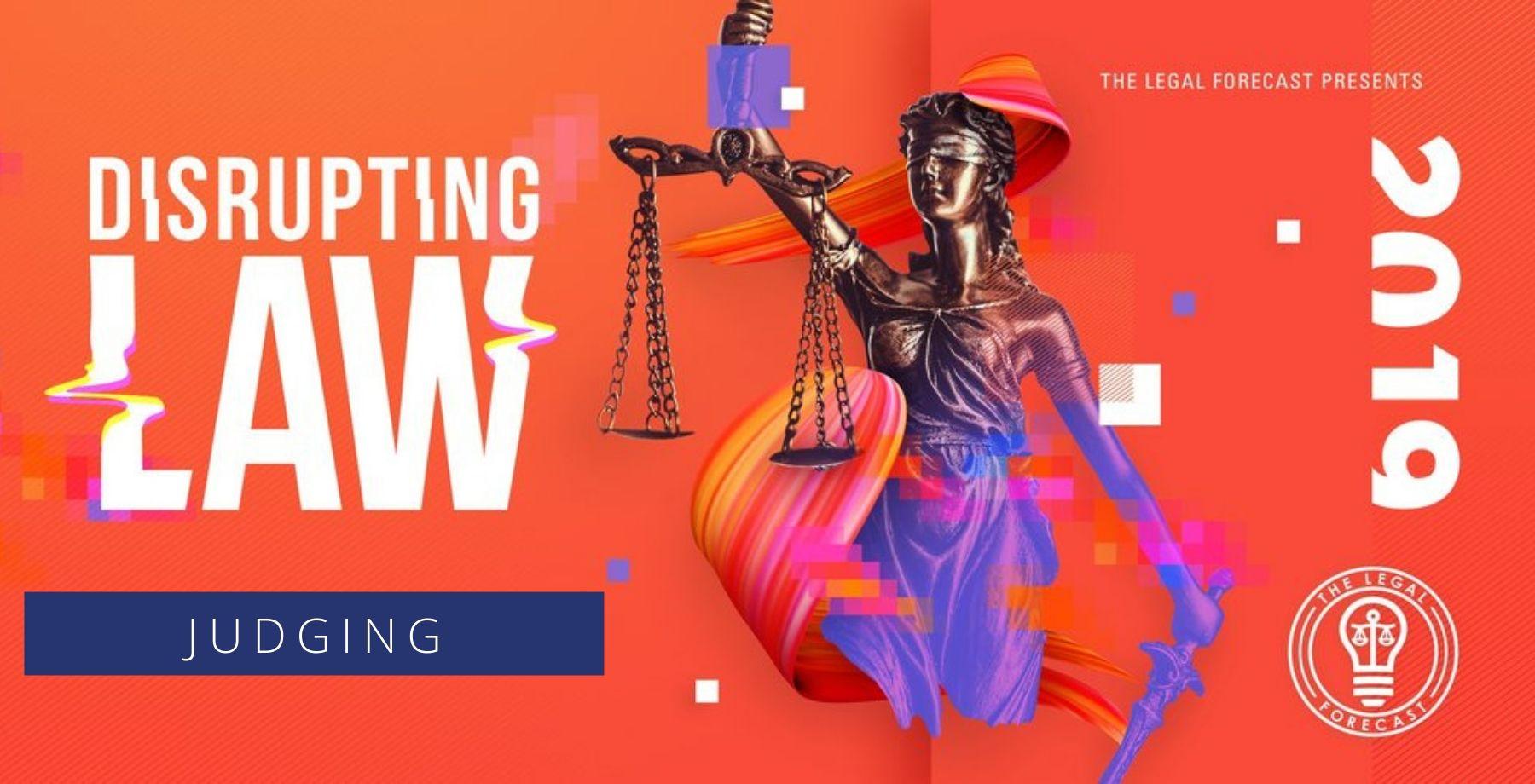 Disrupting Law Hackathon 2019 Banner