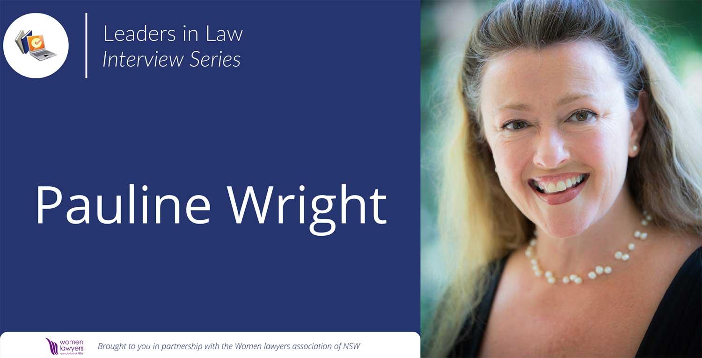Leaders in Law - Pauline Wright