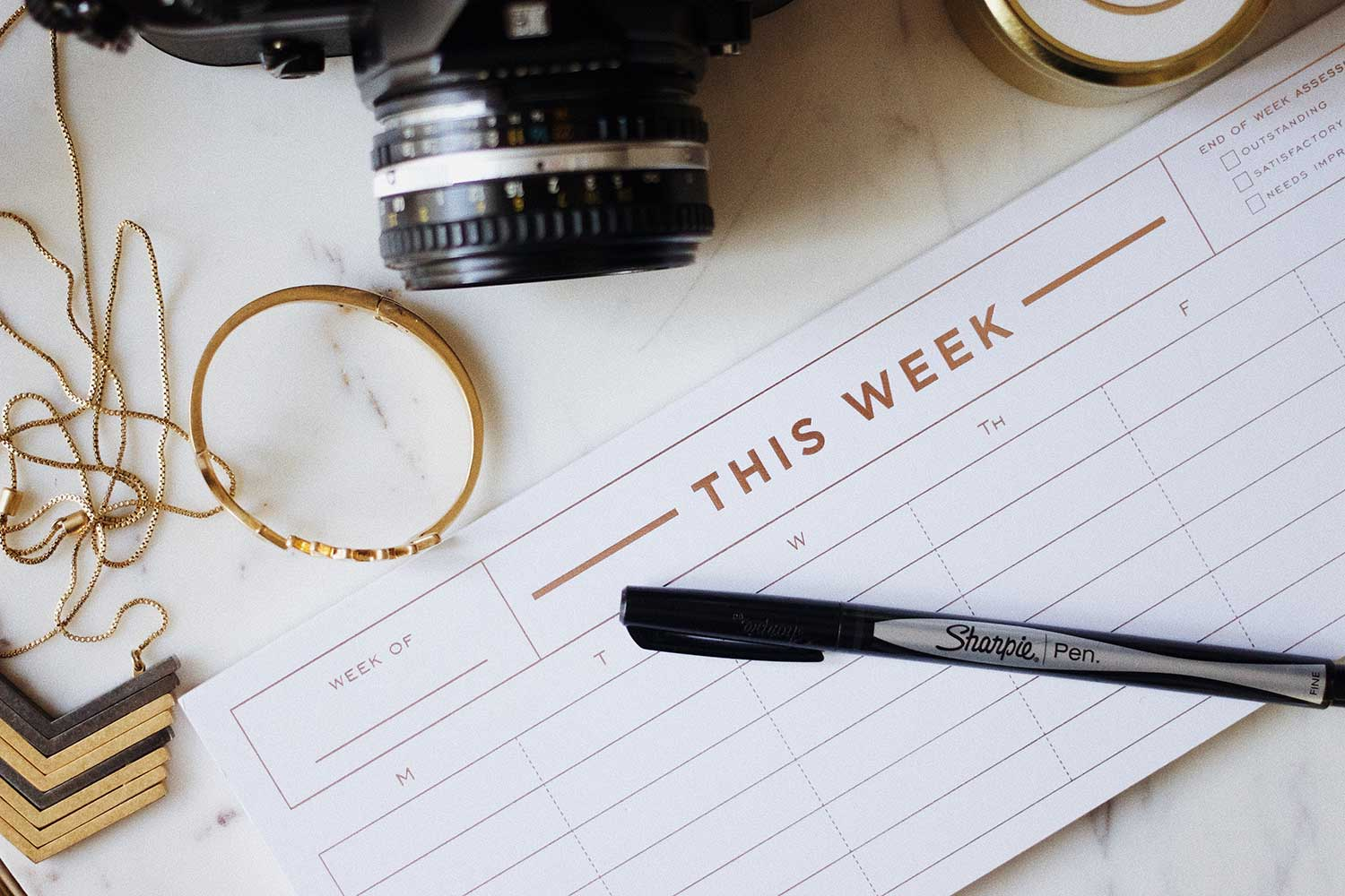 Weekly planner to help time management
