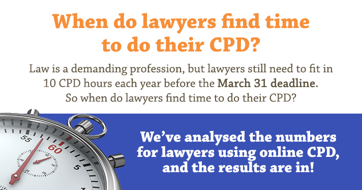 Lawyers do their CPD